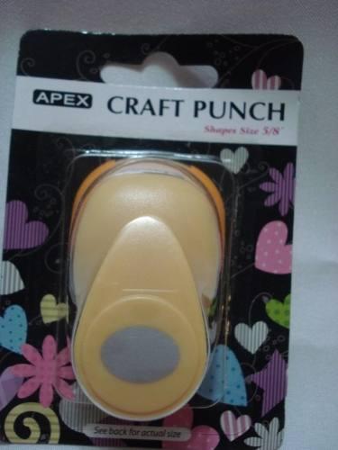 Furador Scrapbook Oval Liso Corte 1,5cm Festa Cratf Punch  - Presente Presente