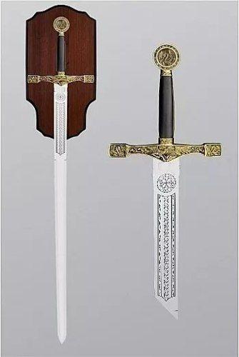 Espada Excalibur 114cm Medieval Com Suporte  - Presente Presente