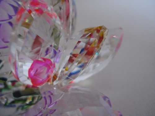 Flor De Lótus De Cristal Boreal 9cm  - Presente Presente