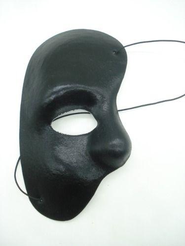 Mascara Fantasma Da Ópera Carnaval Preta Festas  - Presente Presente