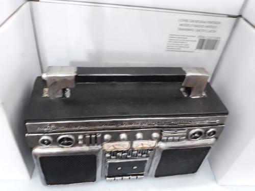 Cofre Resina Radio 3 Em 1 Antigo Fita K7 Vintage Retro  - Presente Presente