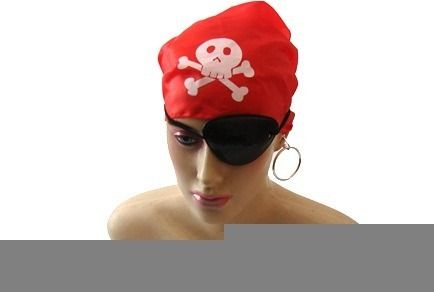 Conjunto Pirata Tapa Olho + Lenço + Brinco Frete Gratis  - Presente Presente