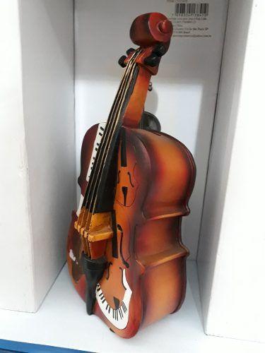Cofre Resina Violoncelo Orquestra Vintage Retro  - Presente Presente