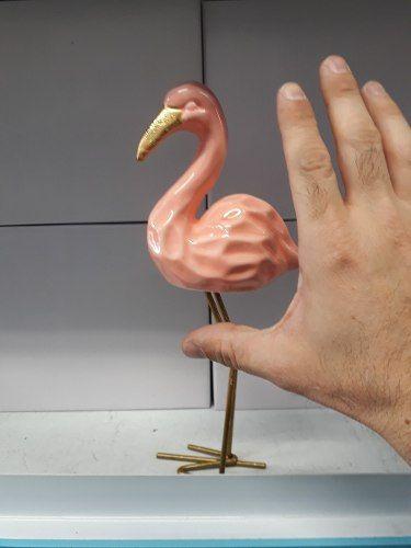 Enfeite Flamingo Resina Estátua 25cm  - Presente Presente