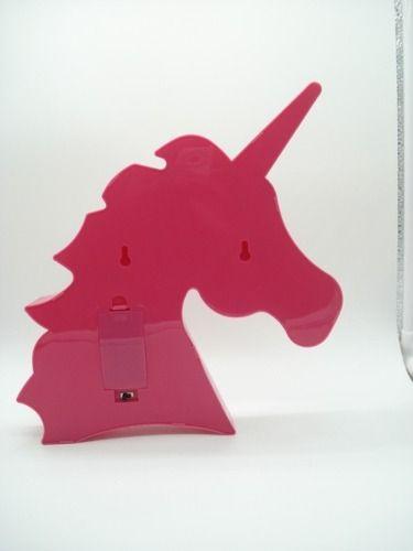 Decoração Enfeite Luminária Led Abajur Cabeça Unicórnio Pink  - Presente Presente