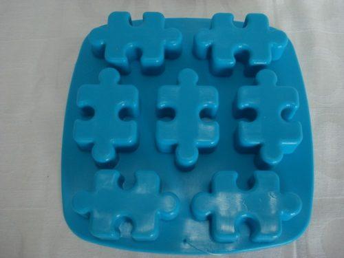 Forma De Silicone Quebra Cabeça Gelo Chocolate Forminha  - PRESENTEPRESENTE