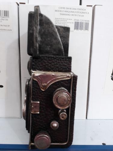 Cofre Resina Maquina Fotográfica Rolo Vintage Retro  - Presente Presente