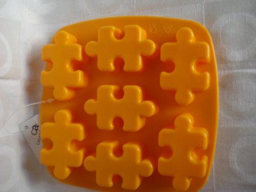 Forma De Silicone Quebra Cabeça Gelo Chocolate Forminha  - Presente Presente