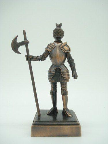 Apontador Guerreiro Medieval Retro Coleção Metal  - Presente Presente