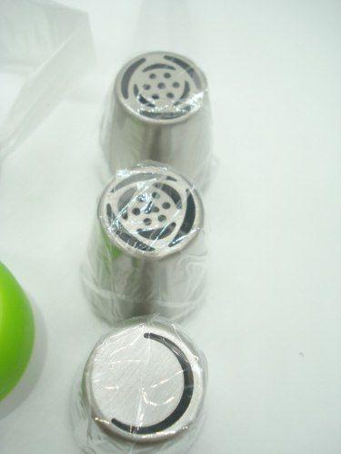 Bico De Confeiteiro 9 Pçs Inox Formas Bico Russo Confeitar  - Presente Presente