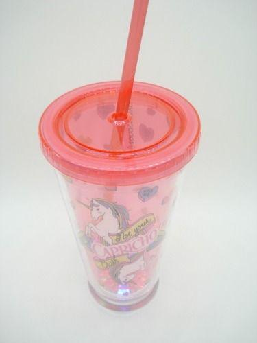 Caneca Unicórnio Led Capricho Pink 500ml  - Presente Presente