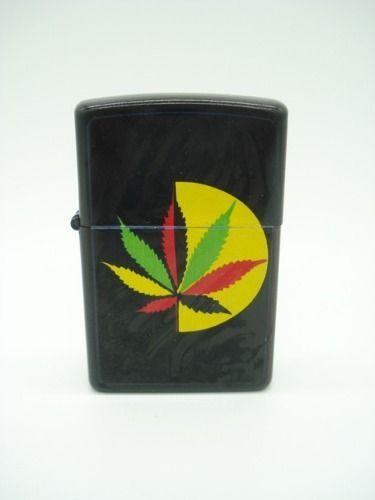 Isqueiro Folha Erva Bob Marley Fluido Display Mod11  - Presente Presente