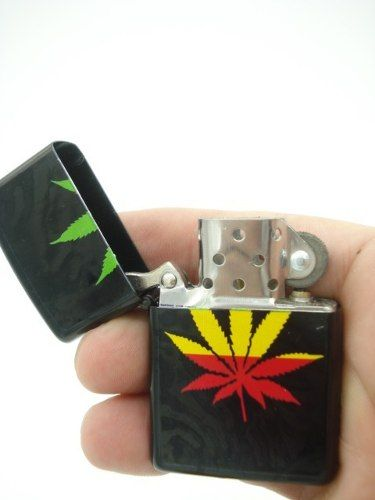 Isqueiro Folha Erva Bob Marley Fluido Display Mod12  - Presente Presente