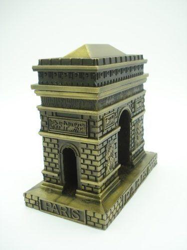 Arco Do Triunfo Mini Paris Metal Enfeite Luxo Dourado Retro  - Presente Presente