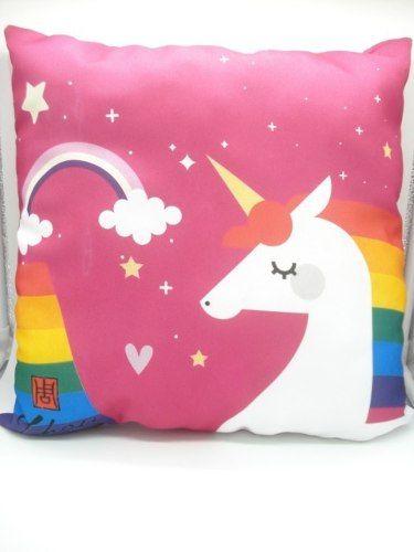 Almofada Unicórnio Arco-iris Pink  - Presente Presente