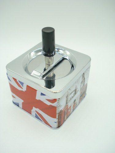 Cinzeiro Londres Grã Bretanha Bandeira Cigarro Coleção  - Presente Presente