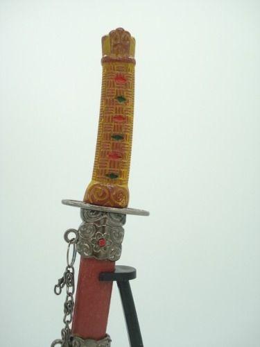 Espada Samurai Katana 24cm Marrom Decoração Oriental  - Presente Presente