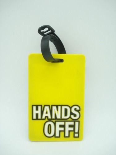 Chaveiro Identificação Hands Off! Mala Etiqueta Amarela  - Presente Presente