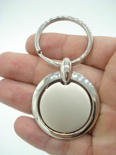 Chaveiro Articulado Circulo Metal Inox  - Presente Presente