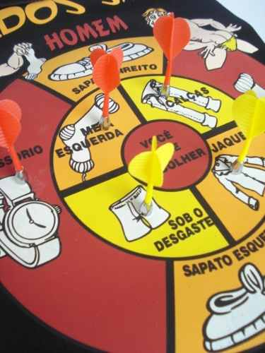 Jogo De Dardo Magnético Erotico Alvo Dupla Face 6 Dardos  - Presente Presente