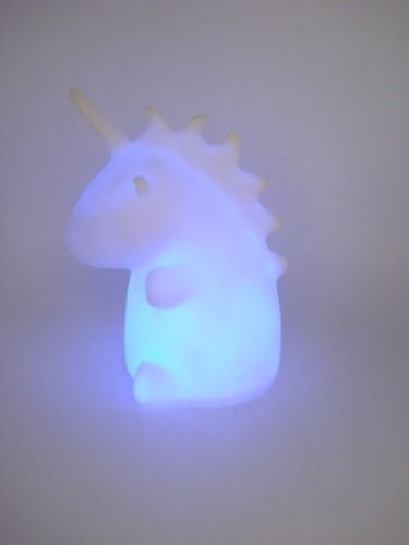 Abajur Unicórnio Led 7 Cores Mini Luminária Mesa Baby Pt-2  - Presente Presente