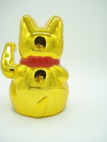 Gato Japonês Da Sorte Dourado Maneki Nekô  - Presente Presente