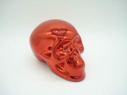 Cofre Cranio Caveira Vermelho Espelhado  - Presente Presente