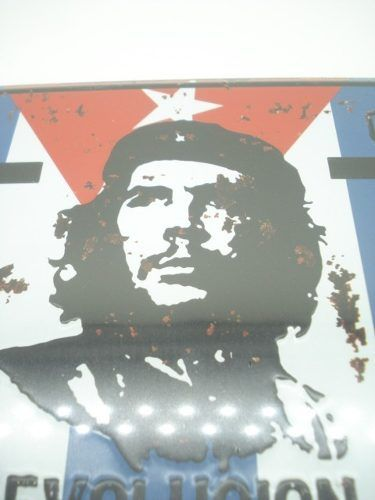 Placa Metal Che Guevara Cuba 30x15cm Vintage Revolução  - Presente Presente