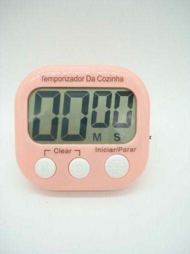 Timer Cronometro Digital Progressivo Regressivo Rosa Bebe  - Presente Presente