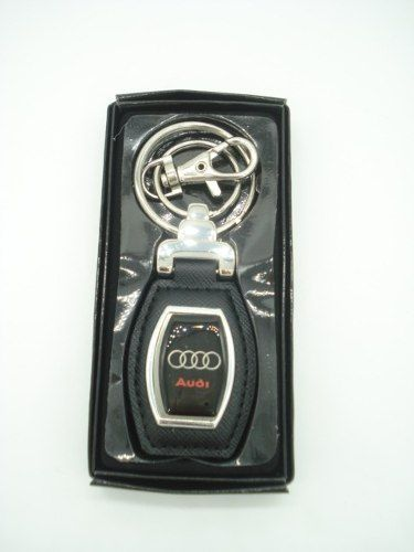Chaveiro Luxo Audi Alça De Couro E Argola Metal Ns020  - Presente Presente