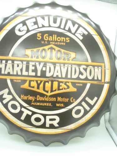 Placa Metal Harley Davidson Motor Oil Decoração Coleção  - Presente Presente