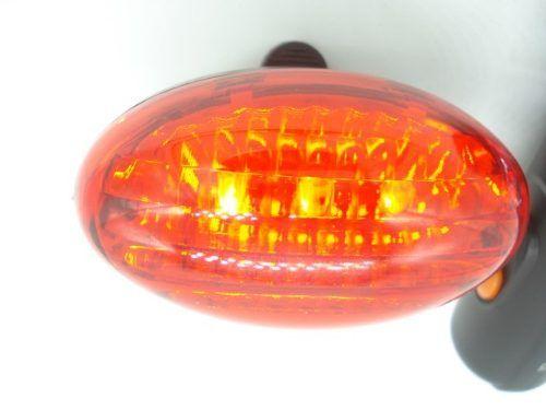 Conjunto Led Lanterna Bicicleta Dianteiro Traseiro Farol  - Presente Presente