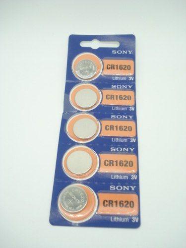 Bateria Sony Cr1620 Lithium 3v 5 Peças  - Presente Presente