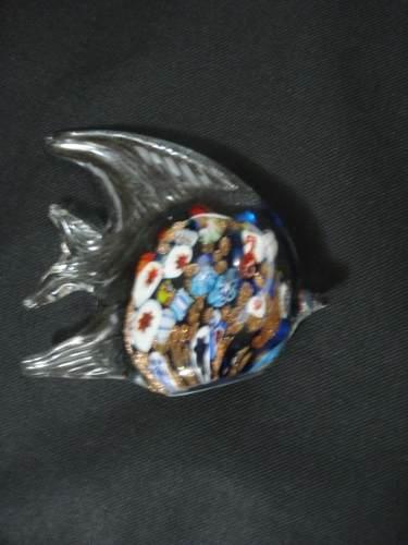 Enfeite Peixe De Vidro Decoração 12x14cm Murano  - Presente Presente