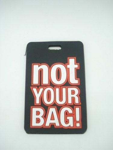 Chaveiro Identificação Not Your Bag Mala Etiqueta Preto  - Presente Presente