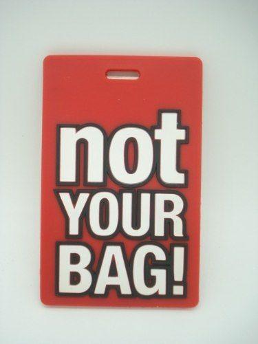 Chaveiro Identificação Not Your Bag Mala Etiqueta Vermelha  - Presente Presente