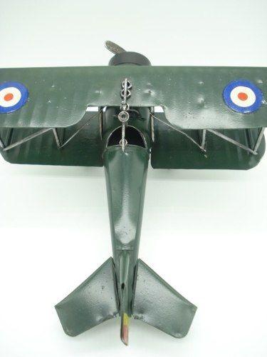 Avião De Guerra Miniatura Metal Verde 30cm  - Presente Presente