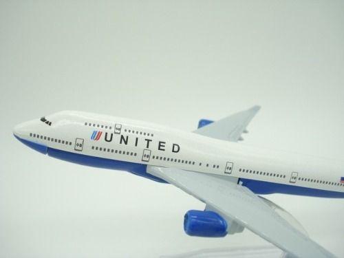 Avião United Jato Miniatura Mini  - Presente Presente