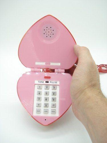 Telefone Coração Love Heart Vermelho Decoração Presente  - Presente Presente