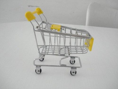 Carrinho Supermercado Organizador Mesa Porta Canetas  - Presente Presente