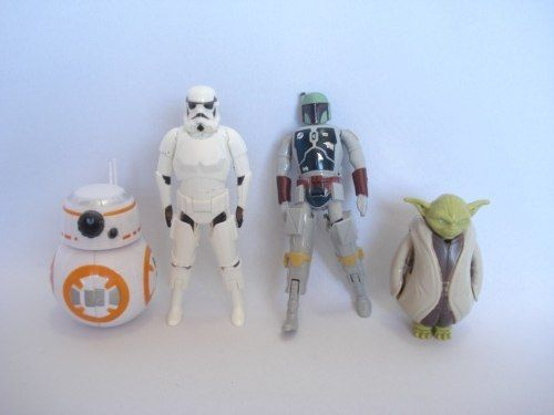 Conjunto 4 Peças Kit Coleção Star Wars Set Figure C-2235  - Presente Presente