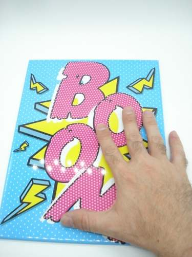 Placa Metal Boom Onomatópeia Quadrinhos Decoração Coleção  - Presente Presente