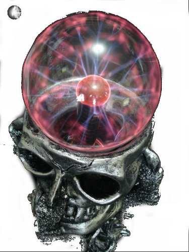 Globo De Plasma Caveira Garra Crânio Plasma Sphere Bola  - Presente Presente