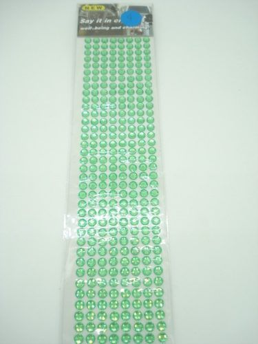 Conjunto Adesivo Destacável Brilho Verde Claro  - Presente Presente