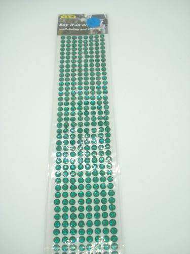 Conjunto Adesivo Destacável Brilho Verde Escuro  - Presente Presente