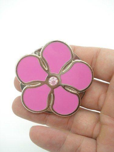 Cabide Dobrável P/ Bolsa Flor Pink Petalas Gancho Suporte  - Presente Presente