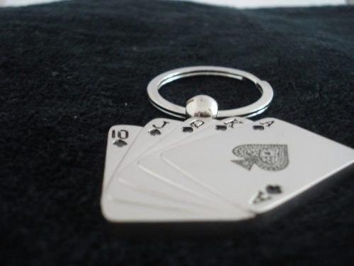 Chaveiro Poker Royal Straigth Flush Frete Gratis  - PRESENTEPRESENTE
