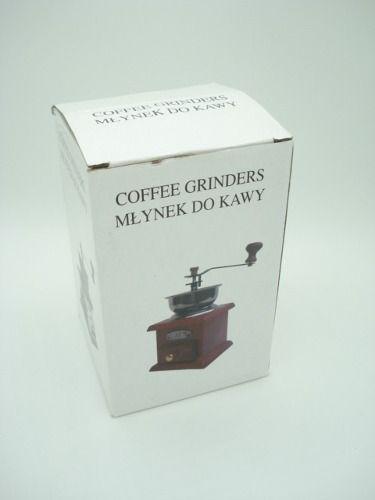 Moedor De Café Manual Madeira Com Gaveta Pó Branco  - Presente Presente