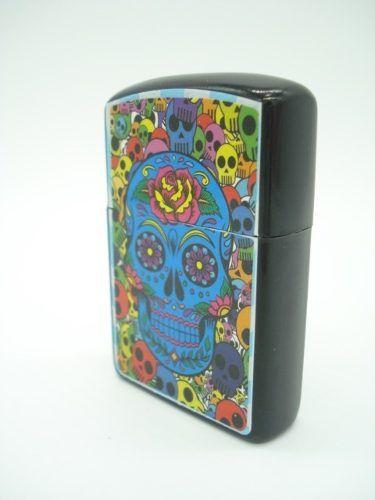 Isqueiro Caveira Mexicana Dia Dos Mortos Fluido Skull Md07  - Presente Presente