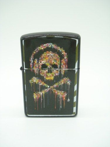 Isqueiro Caveira Rock N Roll Fluido Skull Md09  - Presente Presente